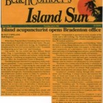 Island Sun article on acupuncture and Barry Greenberg